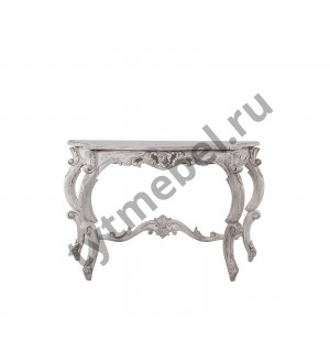 CONSOLE HEAVY CARVED Консоль 124х65х78 см, цвет: Duco+Glaze Black - античный серый